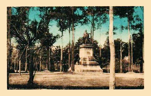 Vị trí cuối cùng của tượng Gambetta: trong Jardin de Ville (Vườn Tao Đàn)