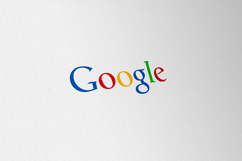 Google 'Updated' Concept Logo - flat colour mock-up
