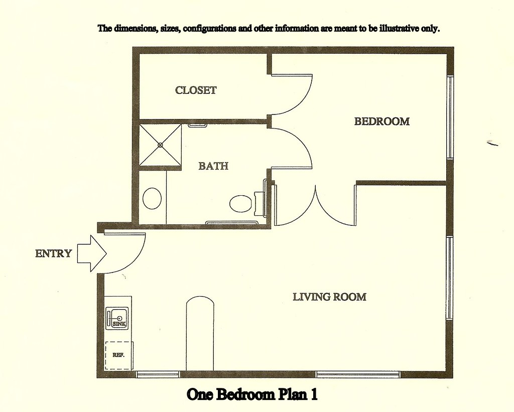 One Bedroom Plan 1