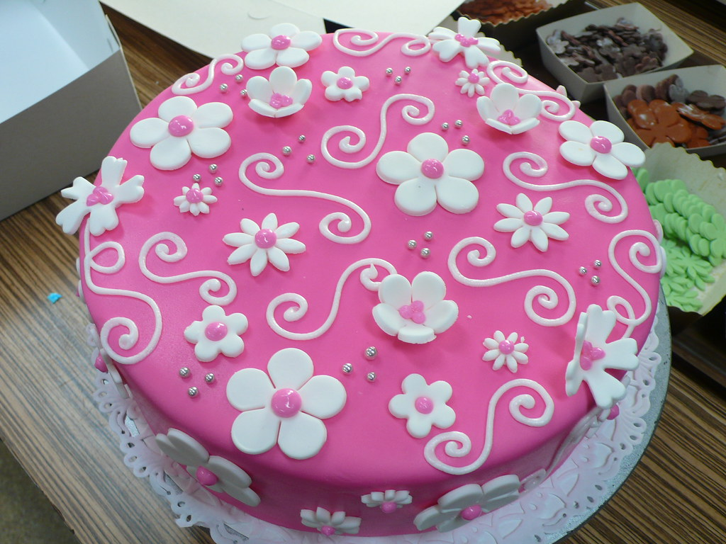 Cake amsterdam cakes by zobots most interesting flickr photos hot pink white flowers birthday cake mightylinksfo