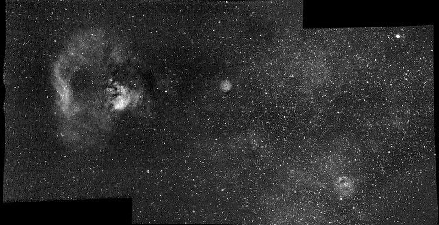 Ced 214, NGC7822, SH2-170, SH2-173 -- H-alpha (mosaic) by s58y