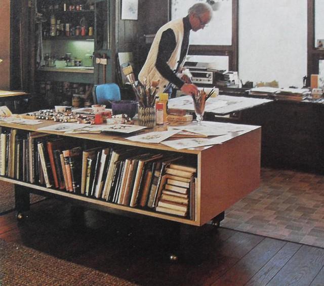 1960s Artist Studio Art Vintage Interior Design Photo