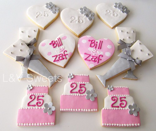 25th Anniversary cookies