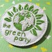 The Green Party - my handmade brooch