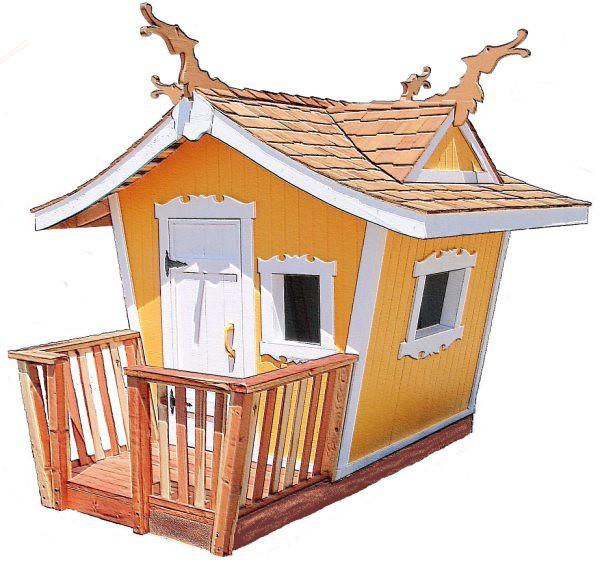 Outdoor Wooden Playhouses Doors