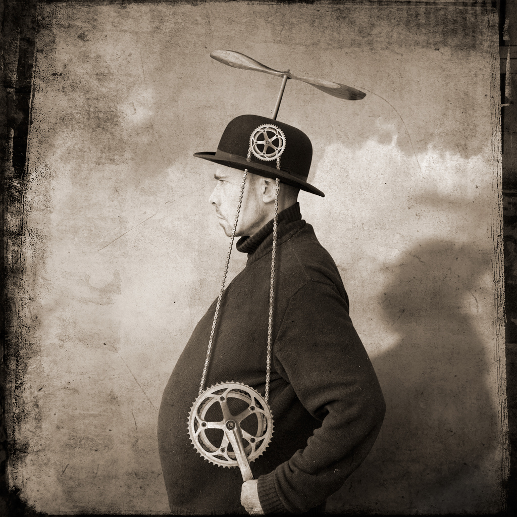 Victor Zobulovich , the inventor of the flying hat