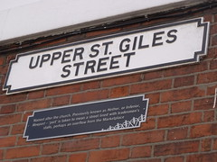 Photo of Upper St. Giles Street black plaque