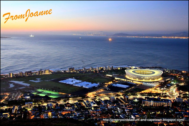 Beautiful revamped Green Point and the World Cup Stadium in Cape Town