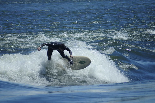 Surf's Up in Montreal on the standing wave in the Saint-Lawrence River!