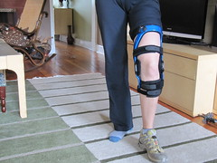my new knee brace.. waiting to be tested in the 'real' hiking world..