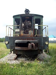 Old train engine