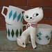 Holt Howard Cozy Kitten Letter and Pen Holder