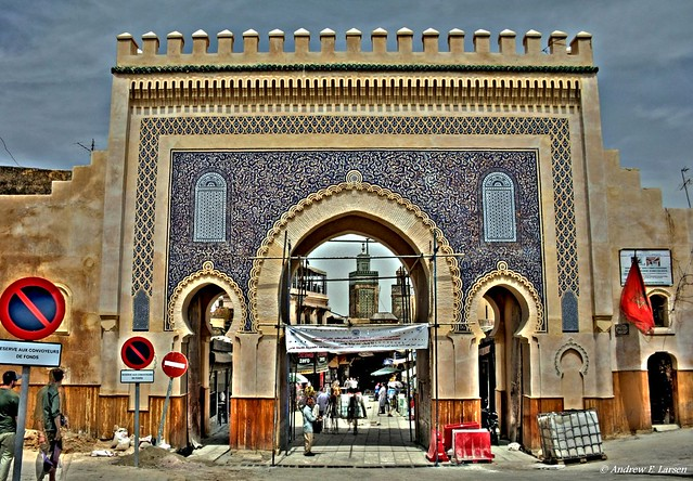 The Blue Gate in Fes, Morocco
