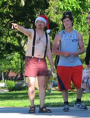 24may10018 (buzzchap) Tags: santa street shirtless summer ...