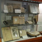 """Bibles in the Colonies and Early Republic"" Case from ""In the Beginning was the Word"" Exhibit"