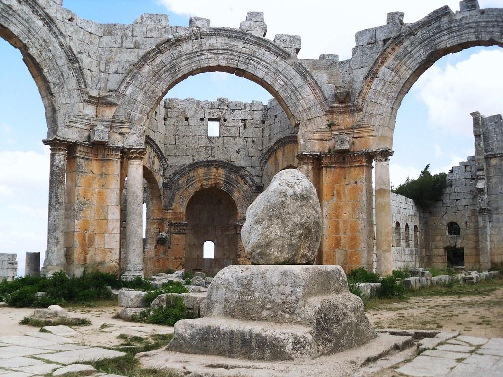 SYRIEN - St. Simeon , Die berühmte Säule ( Rest )