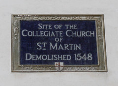 Photo of Collegiate Church of St Martin, London blue plaque