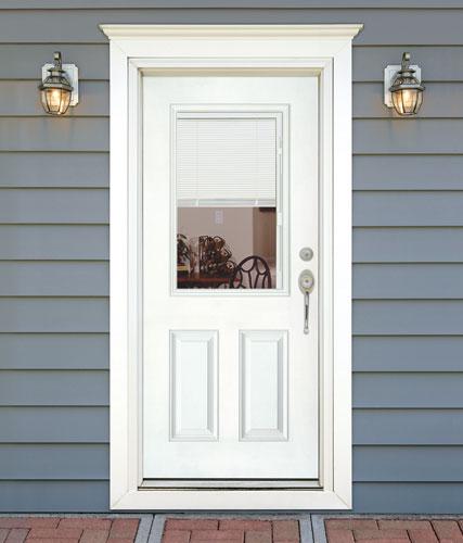 Feather River Door Fiberglass Entry Doors Mini Blinds Sm