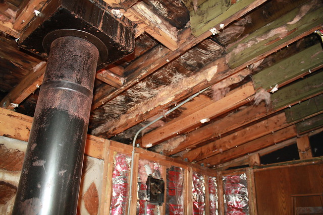 Damage from roof leak   Flickr - Photo Sharing!