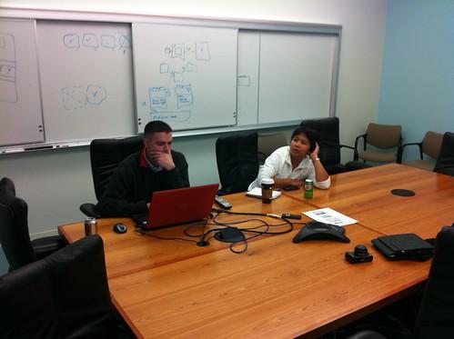 Hard at work - @sqlsarg and @YanniRobel