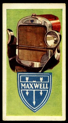 Tradecard - Maxwell Motor Cars