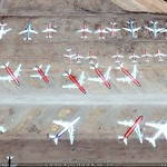 Northwest Airlines planes in Pinal Airpark boneyard