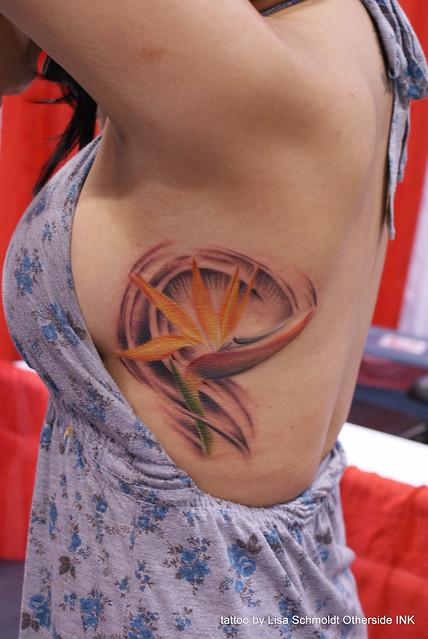 Bird of paradise tattoo - photo#23