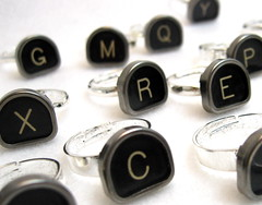 Vintage Typewriter Key Rings