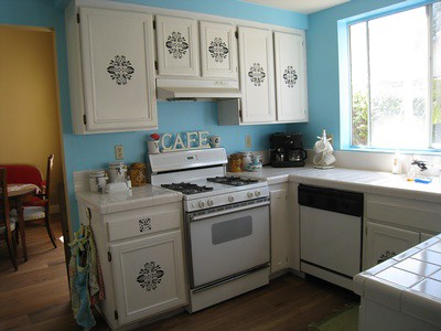 Stenciled Cabinets | I bought these stencils at Michael's ...