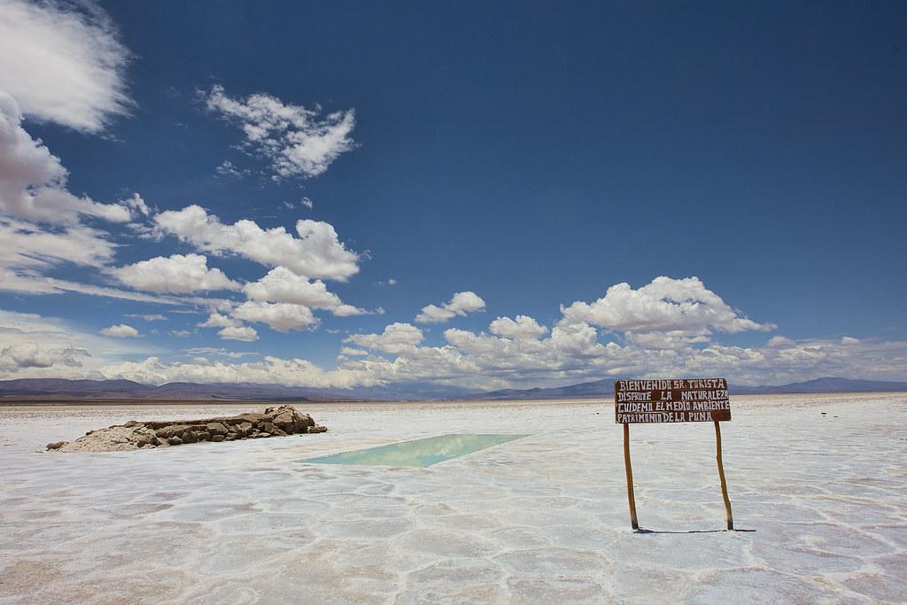Evaporative pool, Salines Grandes, Argentina.