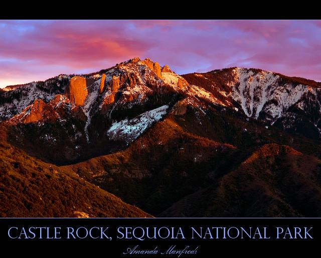 Castle Rock, Sequoia National Park, CA, USA