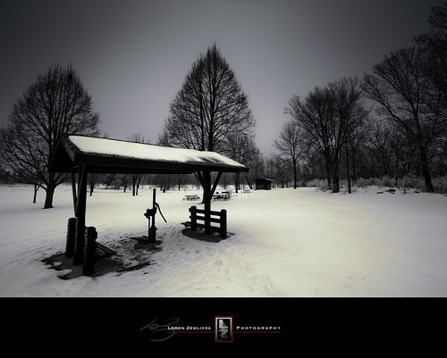 park trees winter snow cold nature wisconsin landscape photography photo midwest image january picture well pump explore madison shelter canonef1740mmf4lusm 2010 isthmus canoneos5d flickrexplore lakefarm flickrfrontpage ninesprings lorenzemlicka