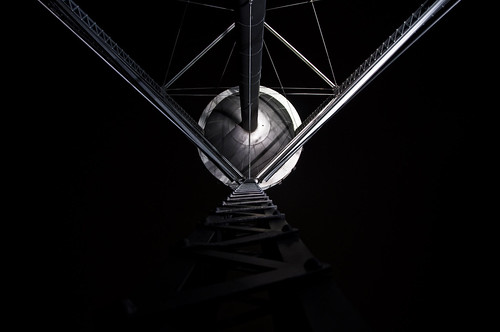 abstract metal night austin texas watertower 365