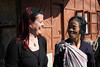 An Apatani woman and me in the village of Hong