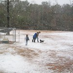 Snow in Mobile Alabama