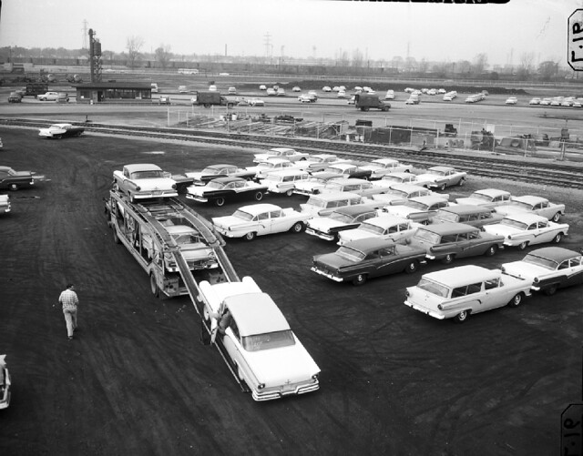 1957 Fords, probably in Dearborn