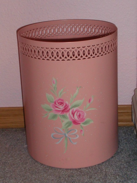 Simply shabby chic waste basket flickr photo sharing - Shabby chic wastebasket ...