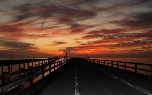 ocean road county old bridge sunset red sky orange black water clouds keys point view sundown florida marathon horizon police seven monroe karma keywest radiohead vanishing mile southflorida sevenmilebridge thekeys sooc keywestbridge nikond5000 sergio~ gittyimages