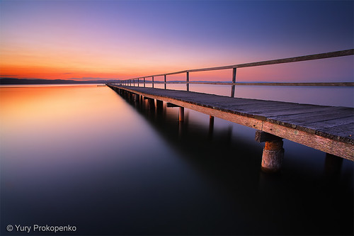Sunset at Long Jetty, Tuggerah Lake