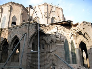 Image of Basílica del Salvador near Santiago. chile santiago earthquake 2010 terremoto