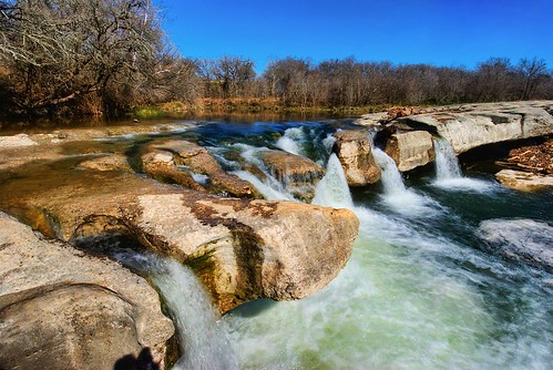 wet water austin river landscape waterfall nikon rocks stream slippery hdr highdynamicrange wideanglelens mckinneyfallsstatepark photomatix tonemapped tonemap d40x topazadjust nomadicpursuits