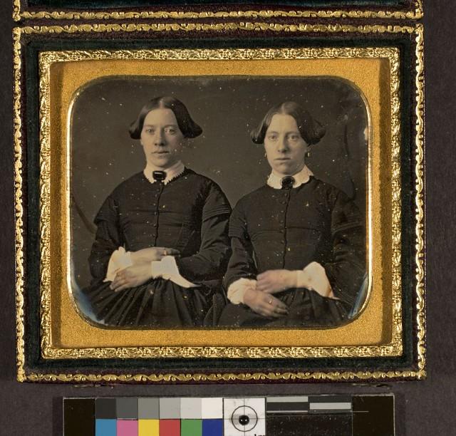 Portrait of two unidentified women, twins