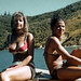 Pauline and Georgie, Bay of Many Coves, Marlborough, New Zealand, 1970