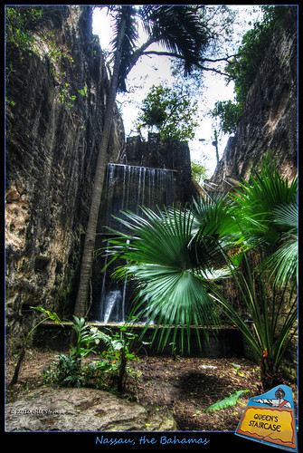 waterfall bahamas nassau hdr queensstaircase photomatix 3exp