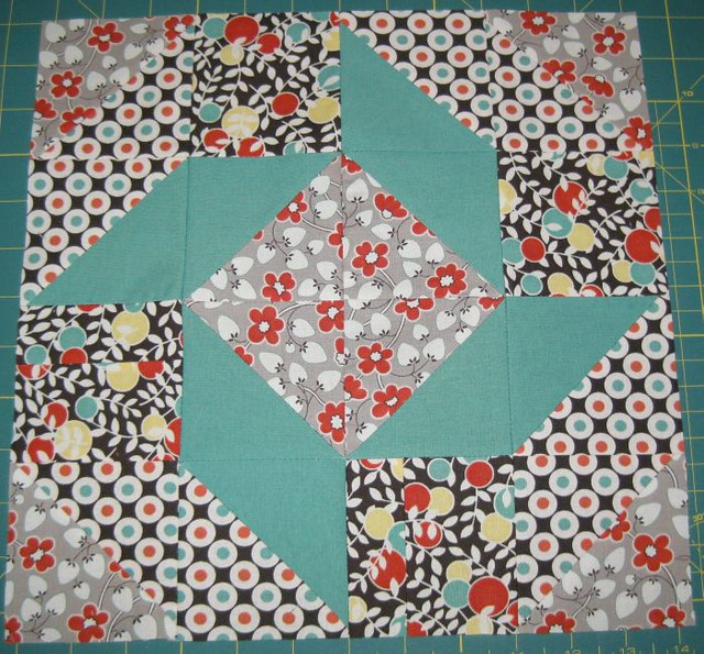 March Bee Pieceful block for Janet