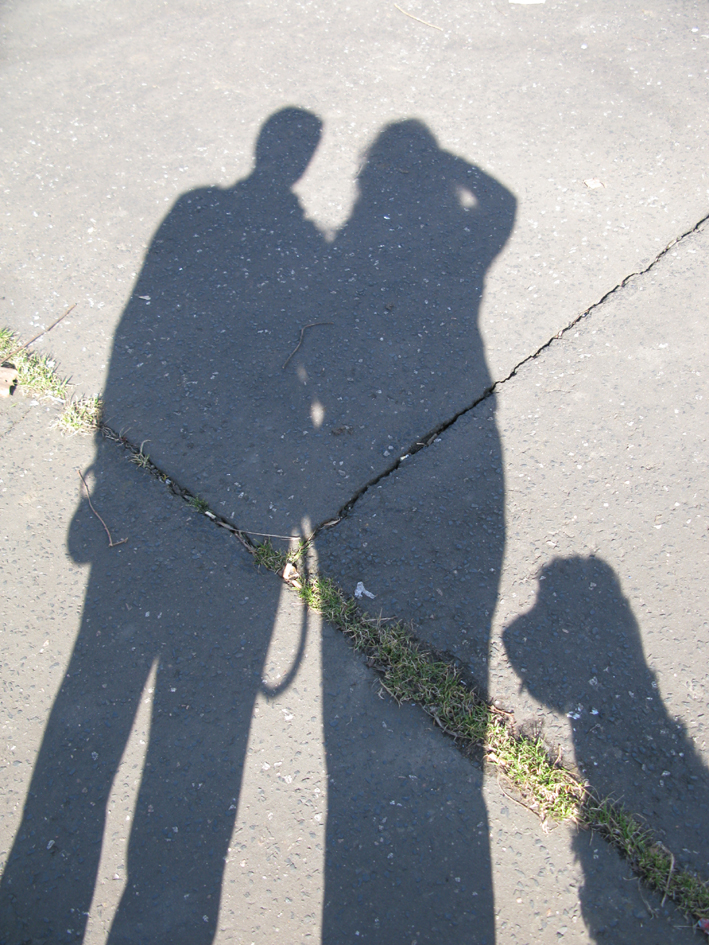 Just the three of us! Feeling inspired by light and shadow on a sunny Sunday walk | Emma Lamb