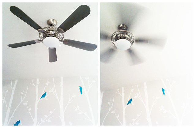 ceiling fan in the playroom