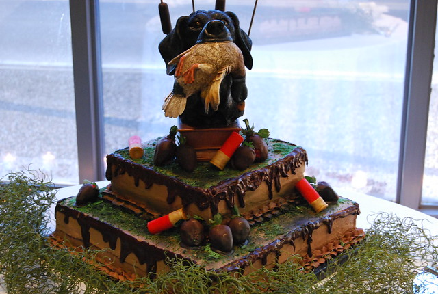 Duck Hunter Groom 39s Cake Chocolate cake with chocolate buttercream icing