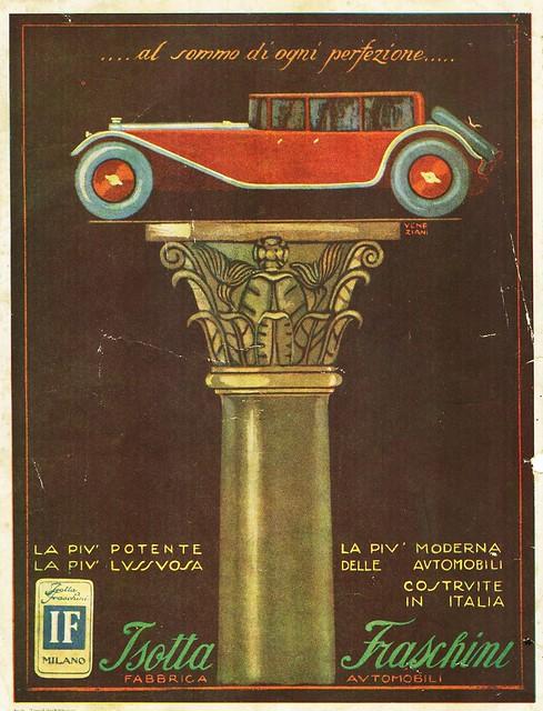 1920s Isotta-Fraschini Ad