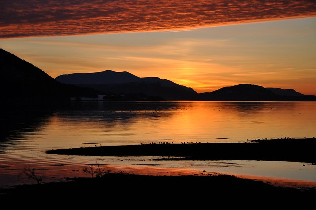 Sunset in Sykkylven, Norway